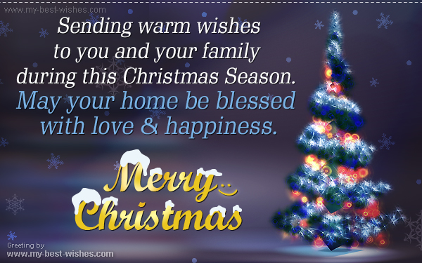 merry chrisatmas to you and your family - Christmas E Cards