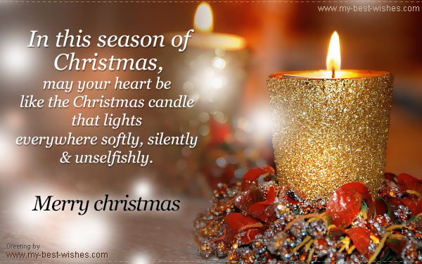 Christmas e cards and greetings x mas e cards may your heart be like the christmas candle that lights everywhere softly silently and unselfishly m4hsunfo