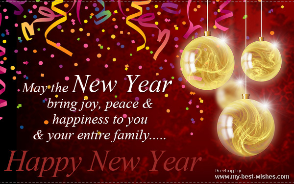 New Year e greetings