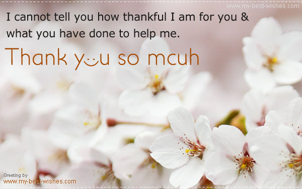 Thank you ecard and greeting to share with yoru friends and family